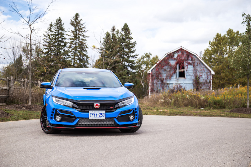 2020 Honda Civic Type R Boost Blue front