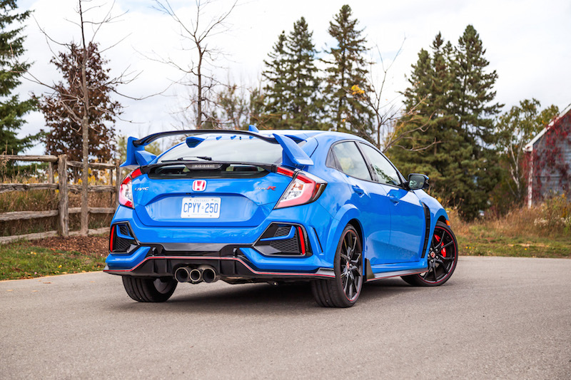 2020 Honda Civic Type R Boost Blue rear