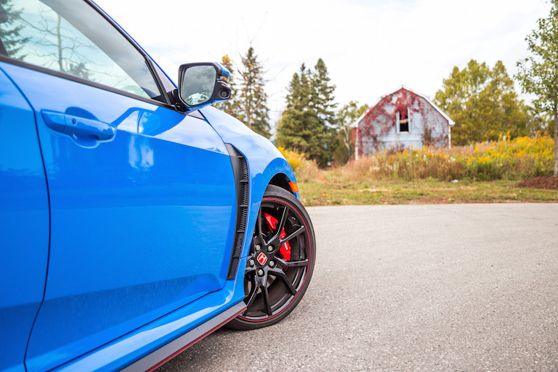 2020 Honda Civic Type R Boost Blue continental wheels