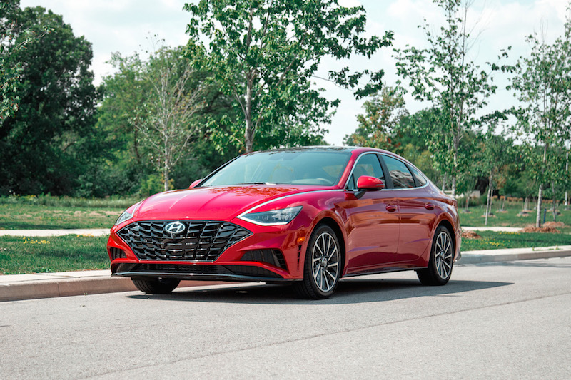 2020 Hyundai Sonata Ultimate red canada