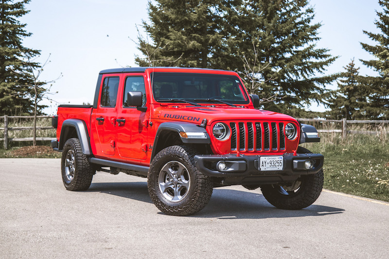 2020 Jeep Gladiator Rubicon firecracker red