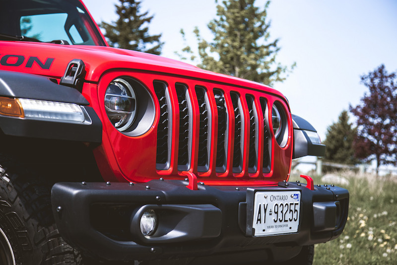 2020 Jeep Gladiator Rubicon front grill
