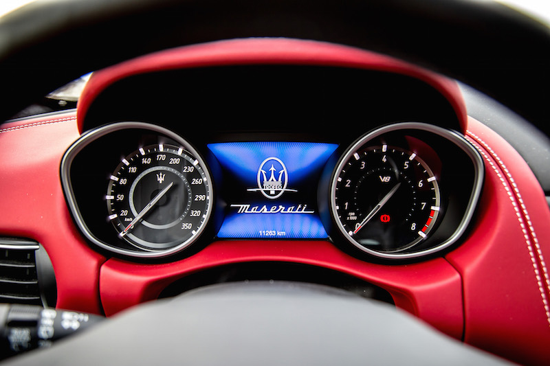 2020 Maserati Levante Trofeo gauges