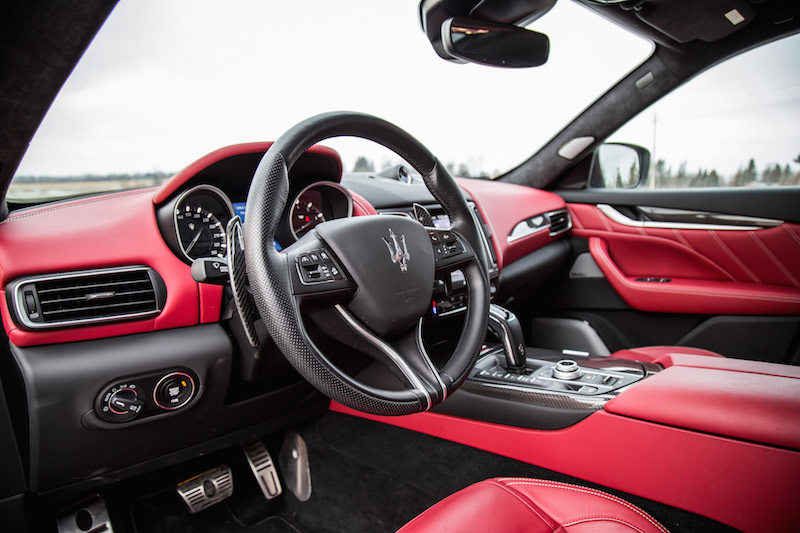 2020 Maserati Levante Trofeo red interior