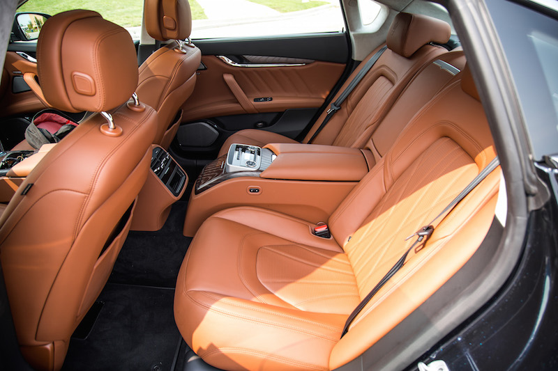 2020 Maserati Quattroporte SQ4 GranLusso rear seats brown leather