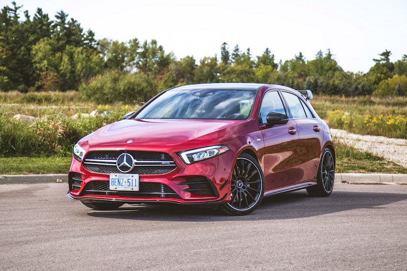 2020 Mercedes-AMG A 35 Hatchback red