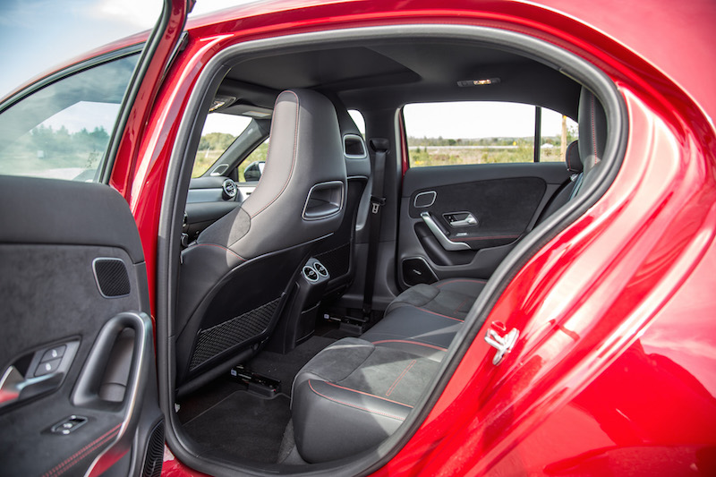 2020 Mercedes-AMG A 35 Hatchback rear seats legroom space