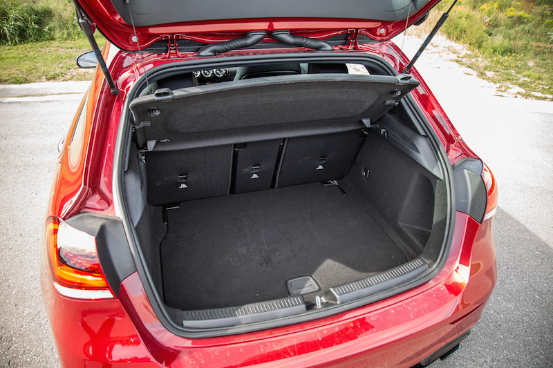 2020 Mercedes-AMG A 35 Hatchback rear trunk space cargo volume