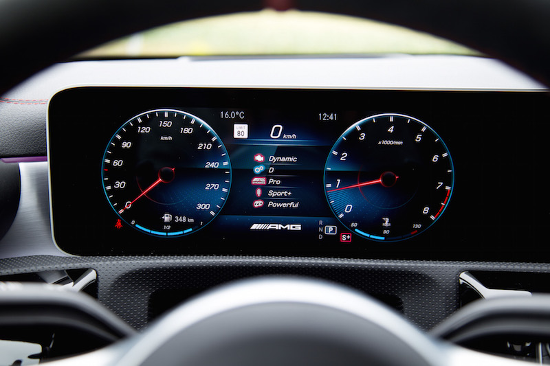 2020 Mercedes-AMG CLA 45 digital gauges