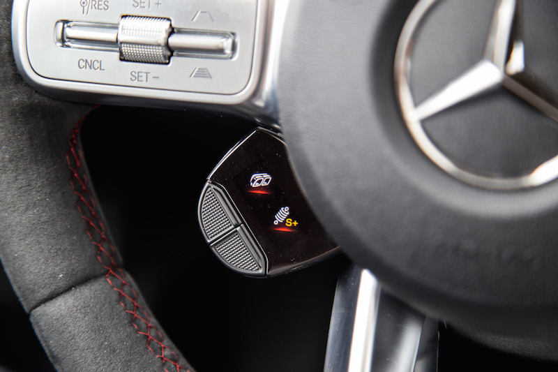 2020 Mercedes-AMG CLA 45 steering wheel left dial buttons