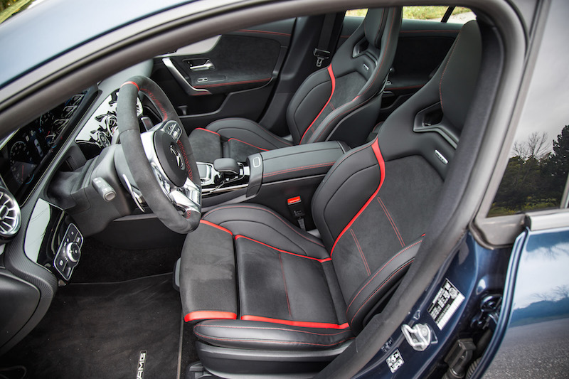 2020 Mercedes-AMG CLA 45 performance seats front suede alcantara leather