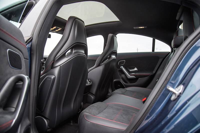 2020 Mercedes-AMG CLA 45 rear seats