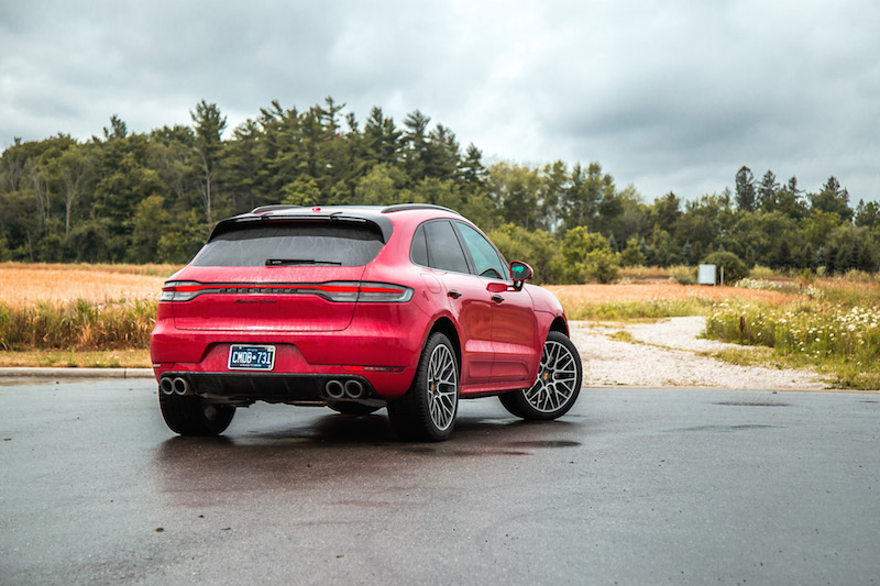2020 Porsche Macan Turbo rear quarter view