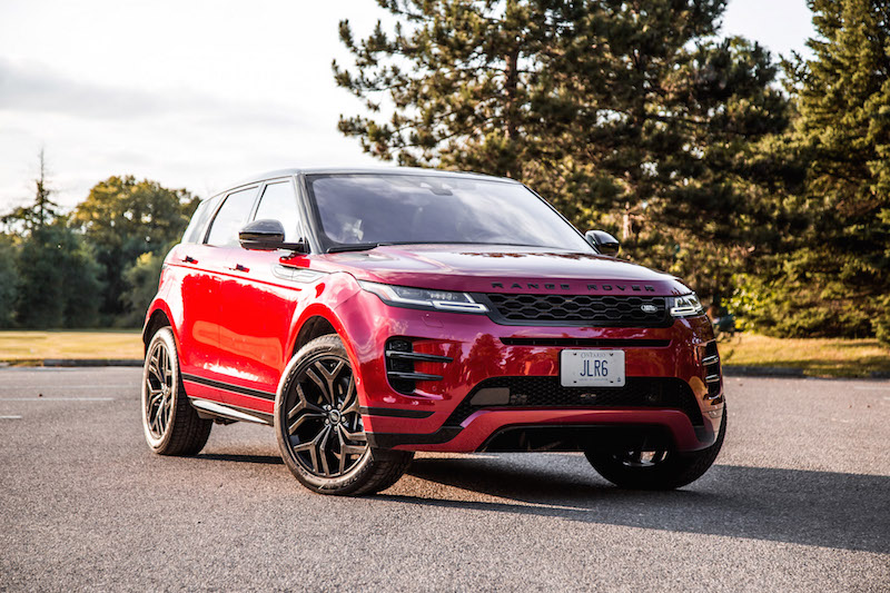 2020 Range Rover Evoque HSE R-Dynamic red paint canada