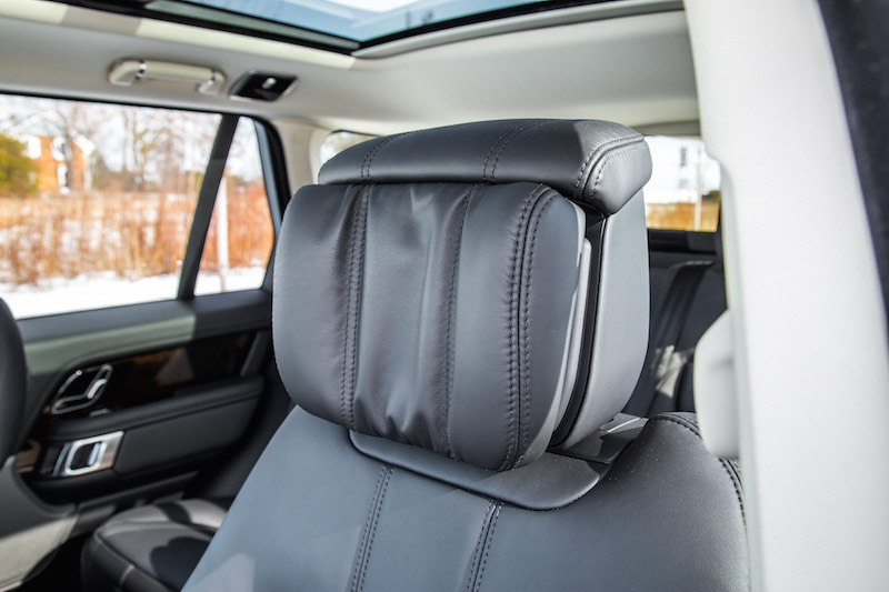 2020 Range Rover Fuji White headrests
