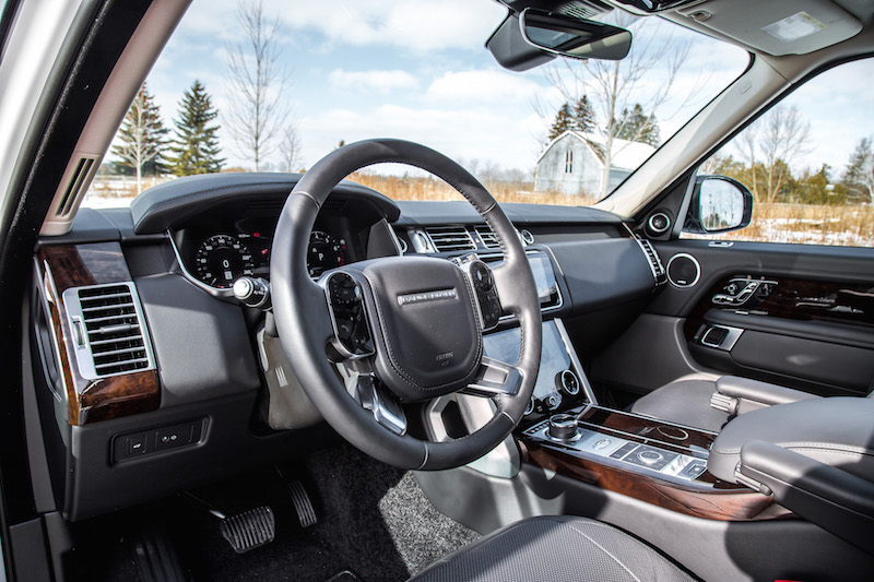 2020 Range Rover Fuji White interior black