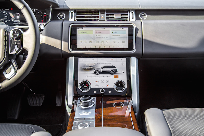 2020 Range Rover Fuji White touch pro duo touchscreens