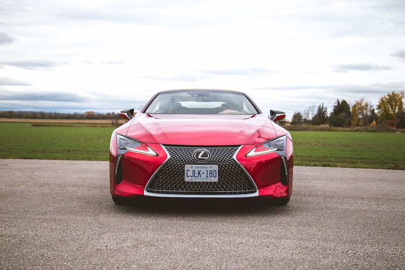 2021 Lexus LC 500 Convertible Infrared front spindle grill