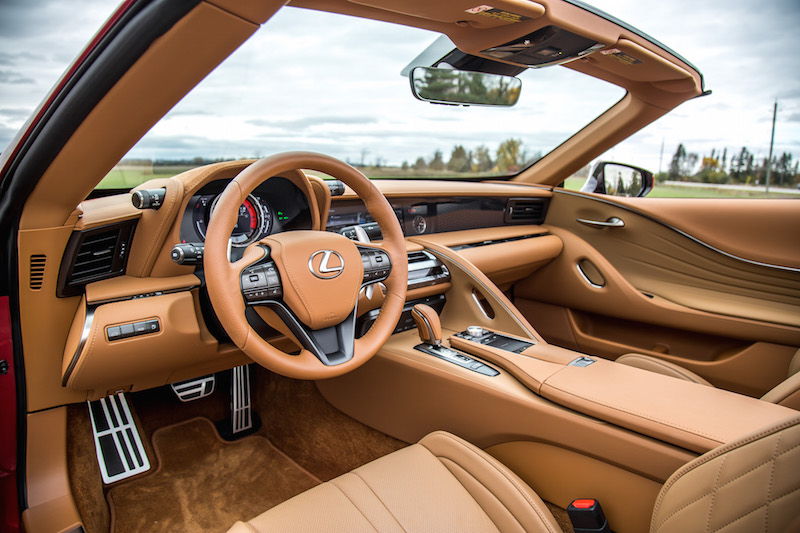 2021 Lexus LC 500 Convertible Infrared toasted caramel interior