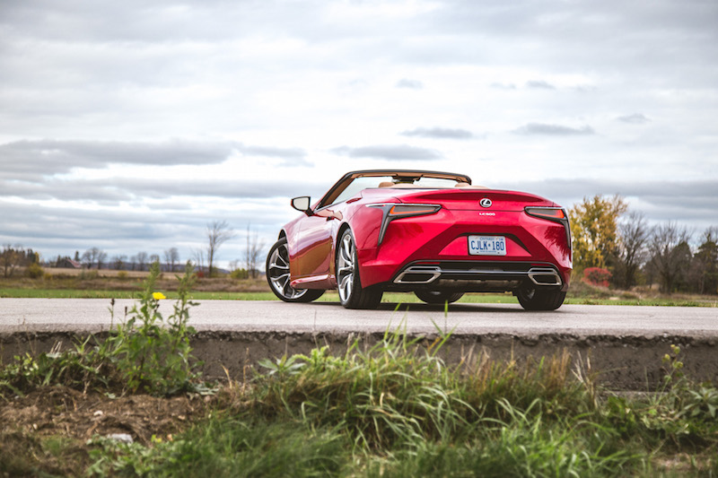 2021 Lexus LC 500 Convertible Infrared rear top down