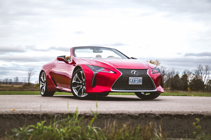 2021 Lexus LC 500 Convertible Infrared front quarter top up