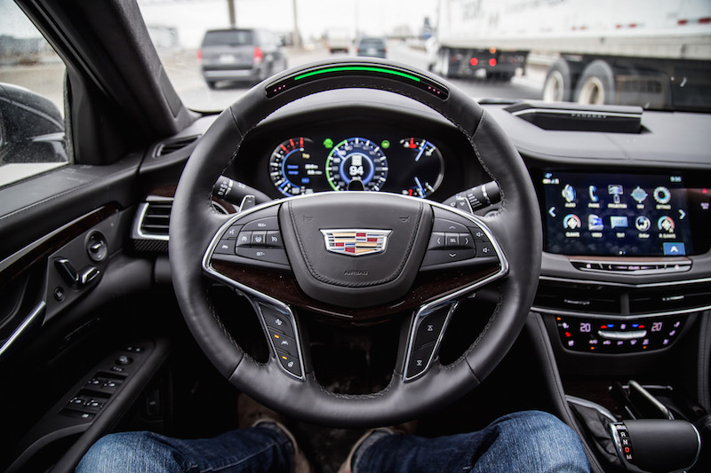 Cadillac Super Cruise steering wheel with light