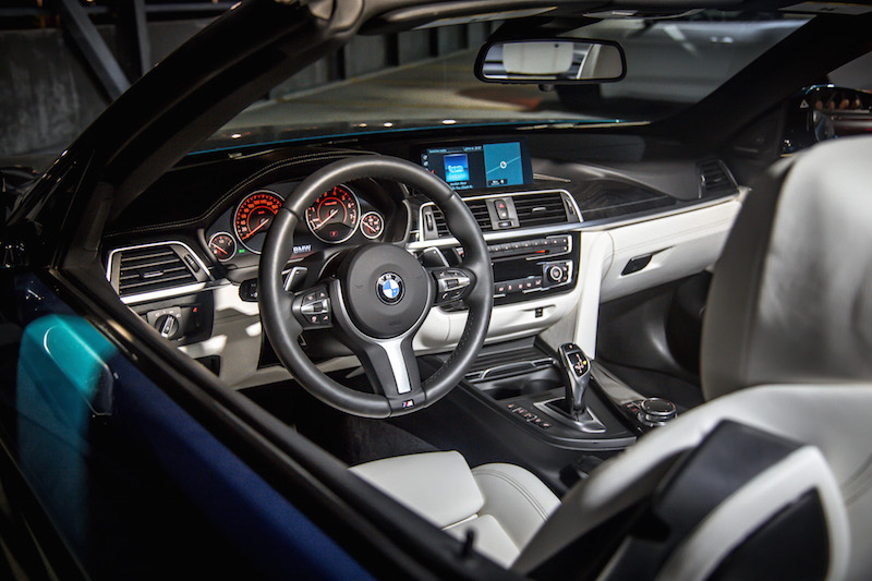 bmw 440i convertible interior white