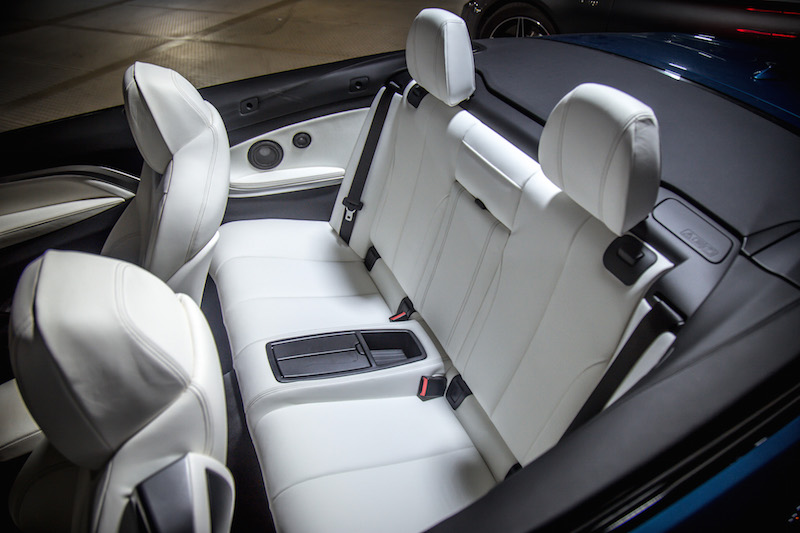 bmw 440i convertible interior white rear seats
