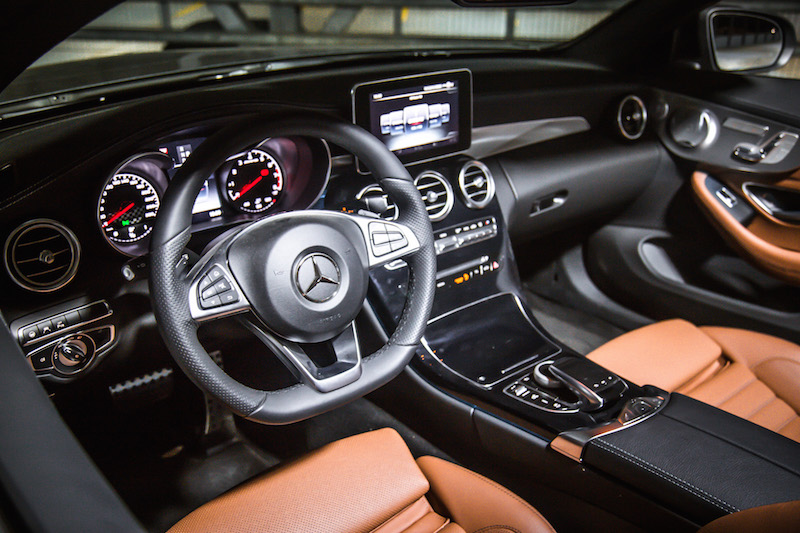 mercedes-amg c 43 cabriolet interior brown