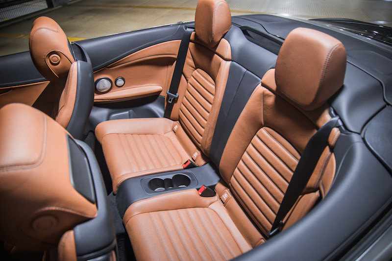 mercedes-amg c 43 cabriolet rear seats