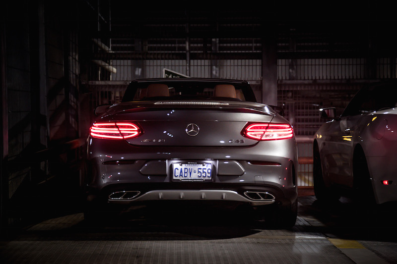c43 amg rear selenite grey metallic
