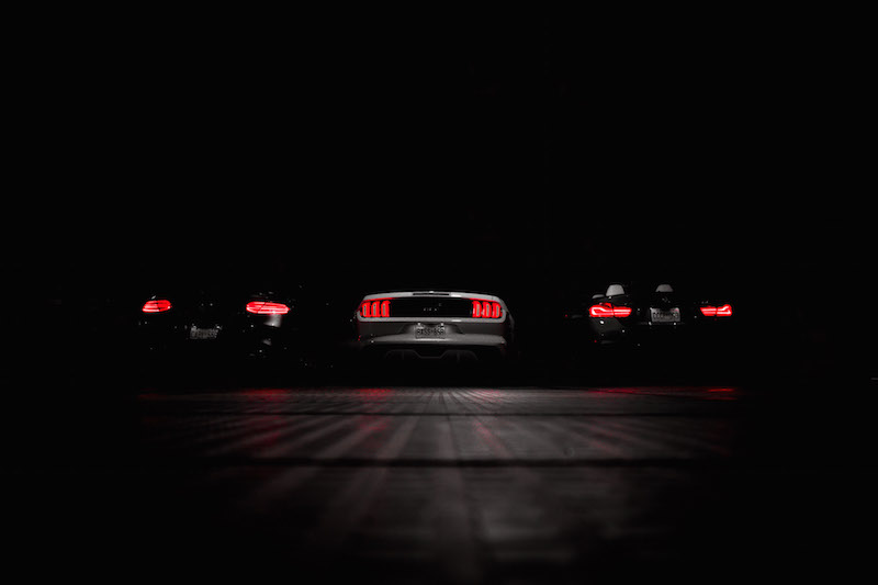 BMW 440i Mercedes AMG C 43 Ford Mustang GT tail lights