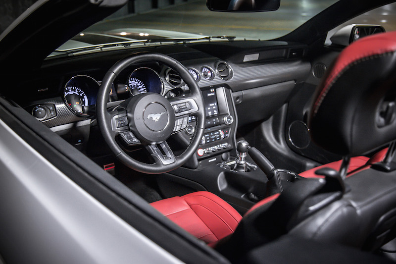 ford mustang gt red interior