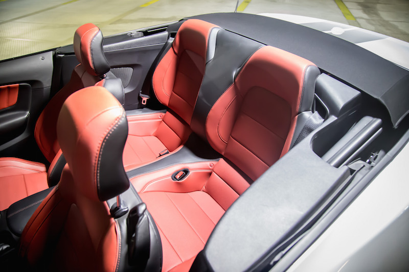 ford mustang gt rear seats