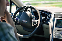 ford automatic steering wheel turn
