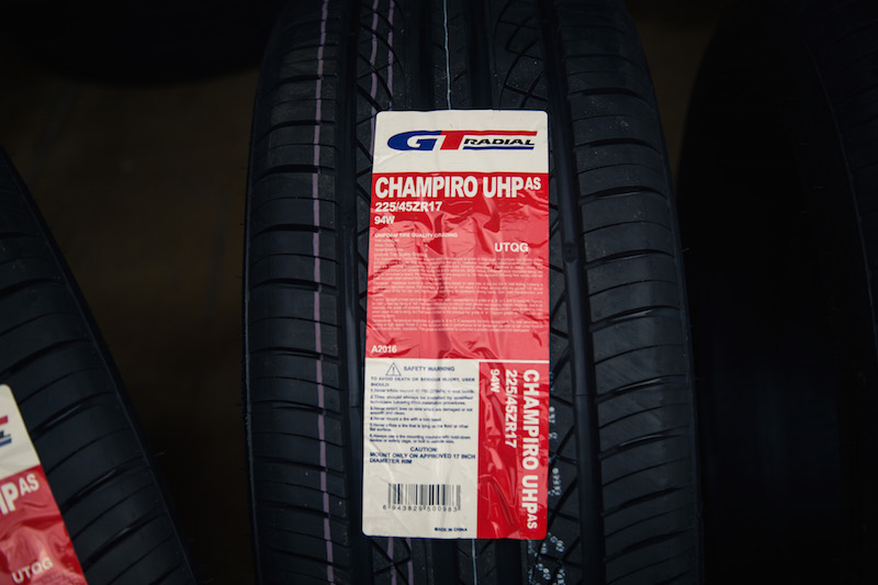 GT Radial Champiro UHP A/S tires sticker